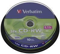 Írható CD-RW 700 MB Verbatim 43480 10 db Újraírható Verbatim