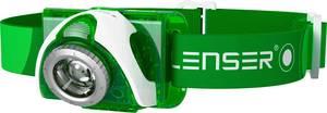 LED-es fejlámpa, elemes, 2 LED 90 lm 40 m 40 óra 96 g, zöld, Ledlenser SEO 3 6103 Ledlenser