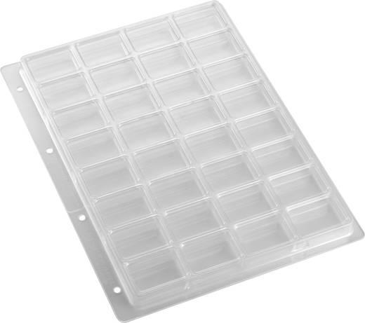 Weltron 32 részes alkatrésztároló doboz, átlátszó, 305 x 231 x 16,8 mm