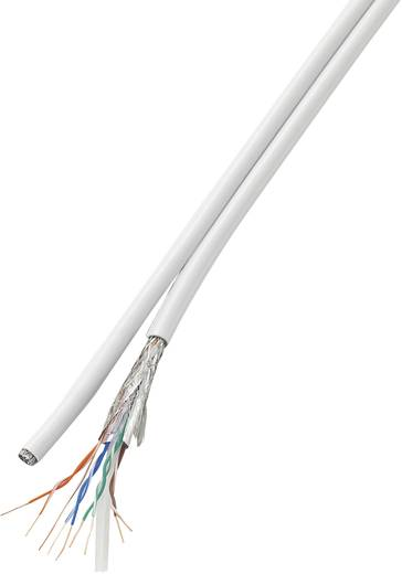 Hálózati kábel,CCA CAT 6, tekercsben Duplex SF/UTP 2 x (4 x 2 x 0,196 mm²) Fehér 100 m Conrad