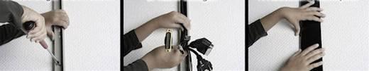 Mini formatervezett kábelcsatorna alumíniumból, 200 x 30 x 15 mm fekete (fényes) Alunovo