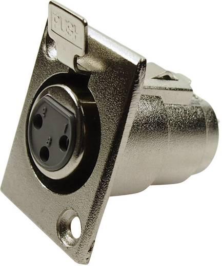 XLR csatlakozó peremes hüvely, egyenes érintkezők pólusszám: 3 ezüst Cliff FC6100 1 db