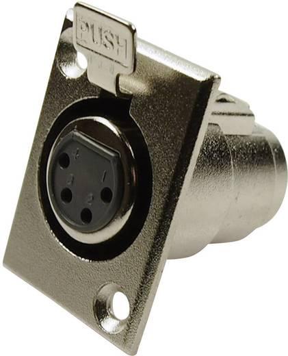 XLR csatlakozó peremes hüvely, egyenes érintkezők pólusszám: 4 ezüst Cliff FC6120 1 db
