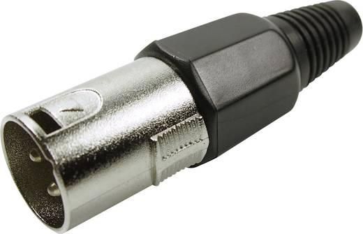 XLR csatlakozó dugó, egyenes pólusszám: 3 ezüst Cliff FC6130 1 db