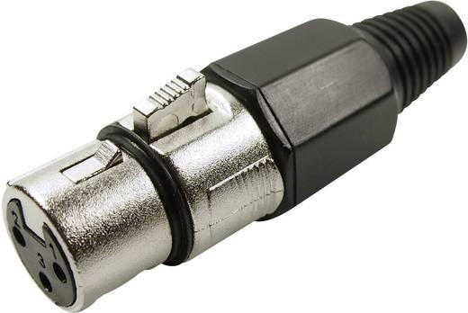 XLR csatlakozó alj, egyenes pólusszám: 3 ezüst Cliff FC6140 1 db