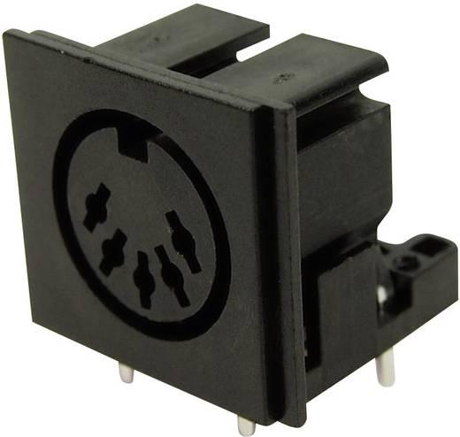 DIN kerek csatlakozóhüvely alj, beépíthető, vízszintes pólusszám: 5 fekete Cliff FC680805 1 db