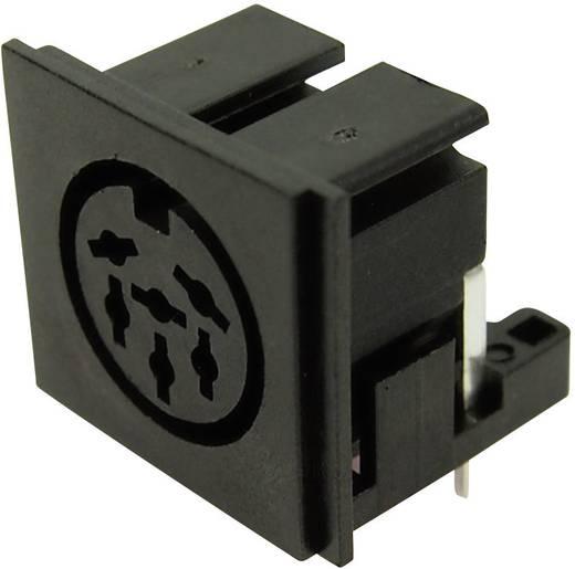 DIN kerek csatlakozóhüvely alj, beépíthető, vízszintes pólusszám: 5 fekete Cliff FC680806 1 db