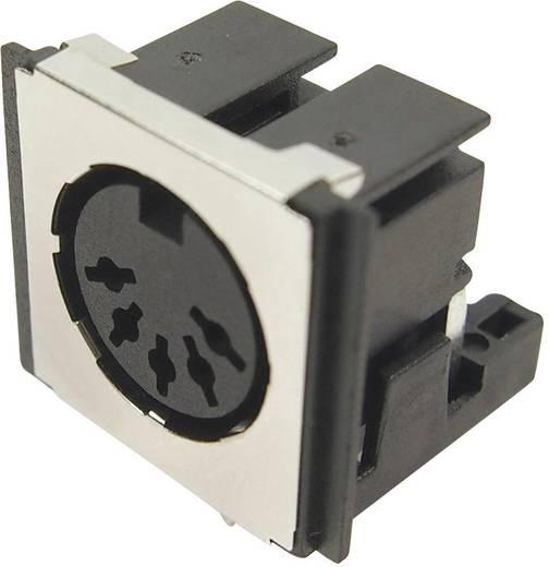 DIN kerek csatlakozóhüvely alj, beépíthető, vízszintes pólusszám: 5 fekete Cliff FM6725 1 db