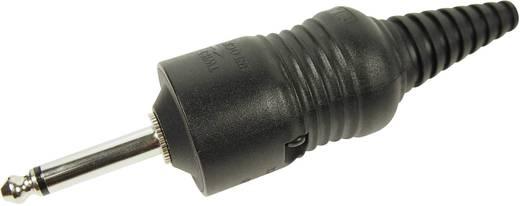 Jack csatlakozó, 6,35 mm dugó, egyenes pólusszám: 2 Mono fekete Cliff CL2075 1 db