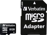 mikro SDHC kártya 8 GB Verbatim MICRO SDHC 8GB CL 10 ADAP Class 10 SD adapterrel Verbatim