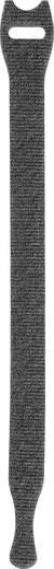 Tépőzár kábelkötegelő kötegeléshez bolyhos és horgos fél 200 mm x 12 mm Fekete TOOLCRAFT KL12X200SC 1 db