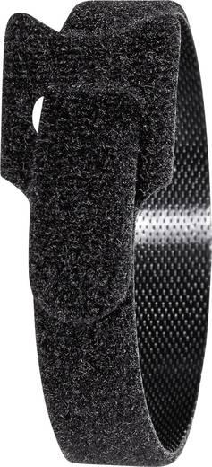 Tépőzár kábelkötegelő kötegeléshez bolyhos és horgos fél 280 mm x 12 mm Fekete TOOLCRAFT KL12X280SC 16 db