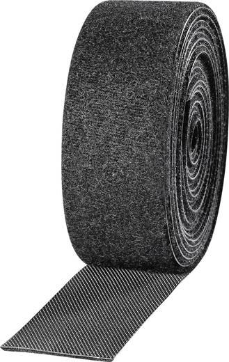 Tépőzár kötegeléshez bolyhos és horgos fél 2.5 m x 25 mm Fekete TOOLCRAFT KL25X2500C 2 tekercs
