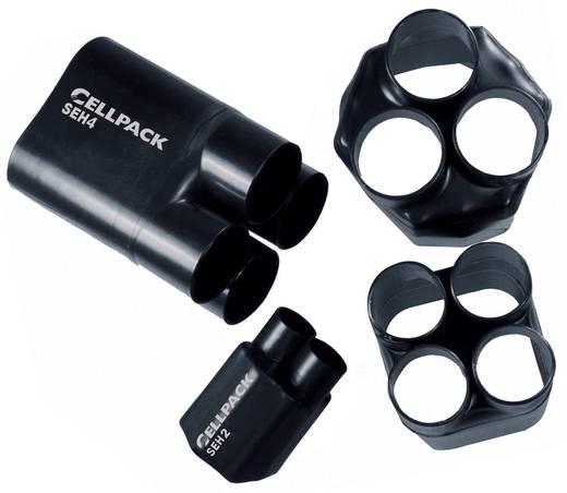 Hőre zsugorodó elosztó sapka, SEHØ bemenet: 30 mm/ 10 mm, kimenet 12 mm/4 mm, fekete