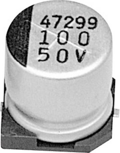Elektrolit kondenzátor SMD 100 µF 50 V 20 % (Ø x Ma) 10 mm x 10 mm Samwha JC1H107M10010VR 1 db