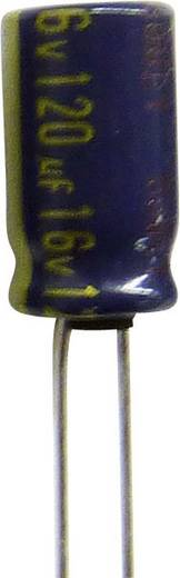 Elektrolit kondenzátor, radiális, álló, 5 mm 220 µF 63 V 20 % (Ø x H) 10 x 25 mm Panasonic EEUFC1J221B