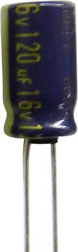 Elektrolit kondenzátor, radiális, álló, RM 5 mm 120 µF 63 V 20 % Ø 10 x 16 mm 105° Panasonic EEUFC1J121B