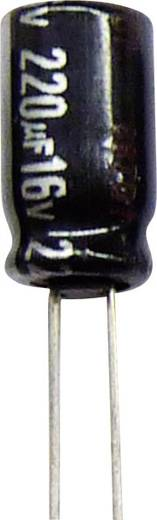 Elektrolit kondenzátor, álló elkó, NHG-R 470µF 16V 105 °C, PANASONIC