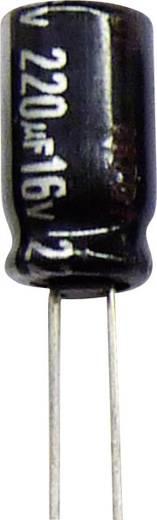 Elektrolit kondenzátor, radiális, álló, RM 5 mm 100 µF 63 V 20 % Ø 10 x 12,5 mm 105° Panasonic ECA1JHG101B