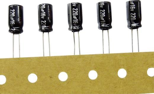 Elektrolit kondenzátor, radiális, álló, RM 3,5 mm 220 µF 25 V/DC 20 % Ø 8 x 11,5 mm 105° Panasonic ECA1EHG221