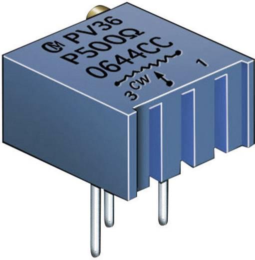 Cermet trimmer potméter 25 menetes, lineáris, 0,5 W 10 kΩ 9000° Murata PV36P103C01B00