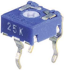 Miniatűr trimmer potméter, lineáris, fekvő, felül állítható, 0,1 W 1 MΩ 215° 235° CA6 V Weltron
