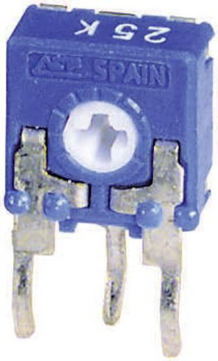 Miniatűr lineáris trimmer potméter, álló kivitelű, oldalsó állítással 0.1 W 100 kΩ 215 ° 235 ° CA6 H