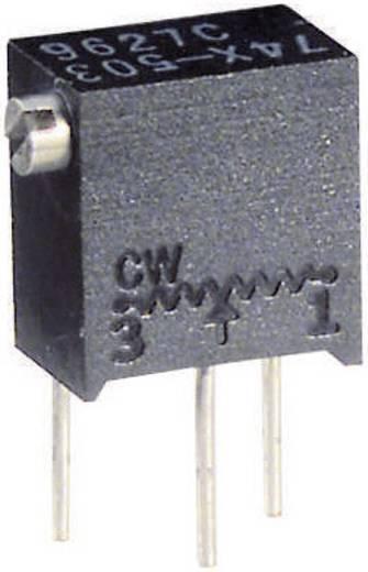 Precíziós trimmer potméter 12 menetes, lineáris, 0,25 W 2 kΩ 4320° Vishay 74X 2K