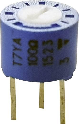 Precíziós trimmer potméter, álló, lineáris, 0,5 W 500 kΩ 210° 230° Vishay 75 P 500K