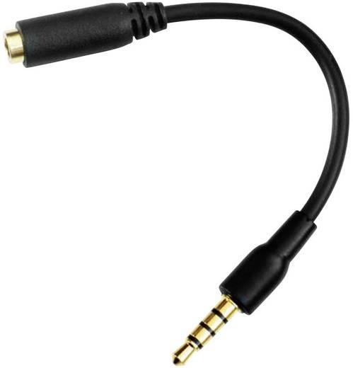 Jack audio csatlakozókábel, 1 x 3,5 mm-es jack dugó – 1 x 3,5 jack alj, 0,05 m, fekete, FiiO
