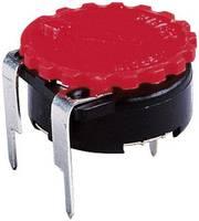 Piher 5371 RT Recézett gomb Piros 1 db Piher