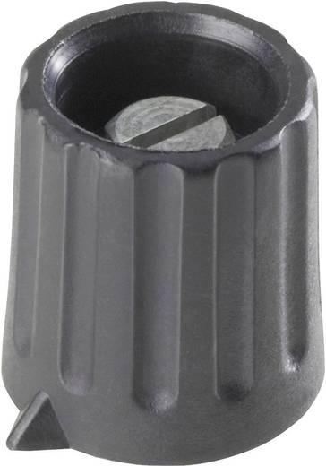 Poti forgatógomb, fekete, Ø6,35 mm, 15 x 16 x 9,5 mm