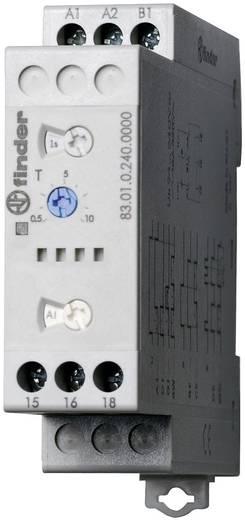 Többfunkciós ipari időrelé, 83.01.0.240.0000 Finder 24 - 240 V DC/AC 1 váltó 16 A 400 V/AC
