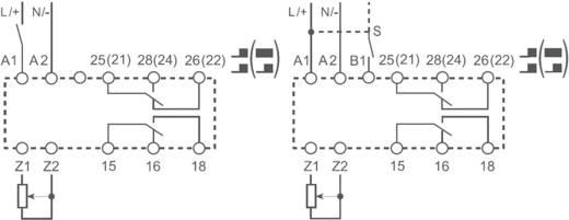 Többfunkciós ipari időrelé, 83.02.0.240.0000 Finder 24 - 240 V DC/AC 2 váltó 10 A 400 V/AC