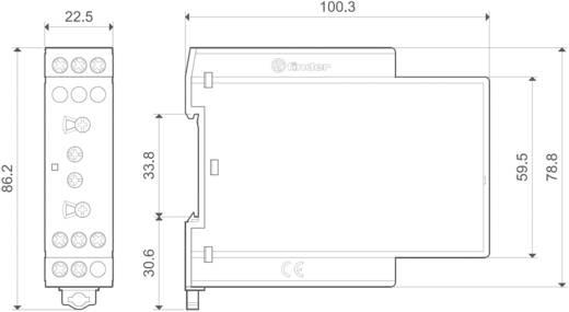 Többfunkciós ipari időrelé, aszimmetrikus ütemadó, 83.91.0.240.0000 Finder 24 - 240 V DC/AC 1 váltó 16 A 400 V/AC