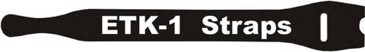 Tépőzáras kábelkötöző 150 x 13 mm, fekete, Fastech E1-1-330-B100