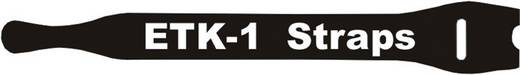 Tépőzáras kábelkötöző 250 x 13 mm, fekete, Fastech E1-3-330-B100