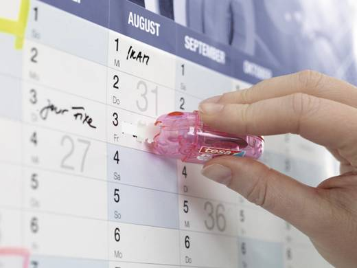 tesa® szövegjavító mini tekercs ecoLogo®, kék, rózsaszín, zöld, narancs 59816 TESA, tartalom: 1 db