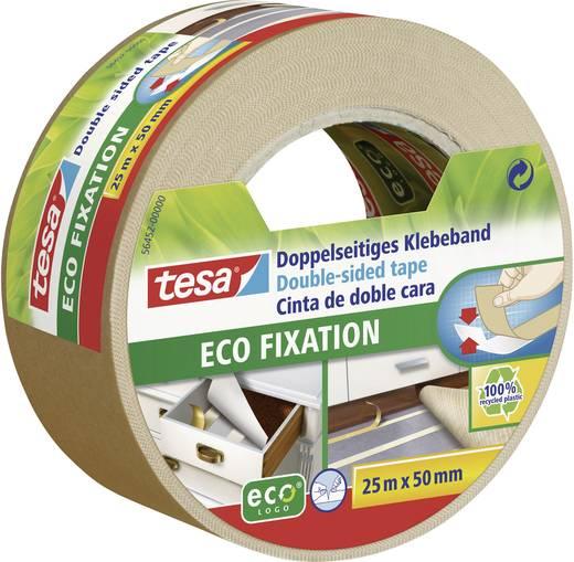 Kétoldalas ragasztószalag, tesa® ECO FIXATION (H x Sz) 25 m x 50 mm, műanyag, 56452 TESA, tartalom: 1 tekercs