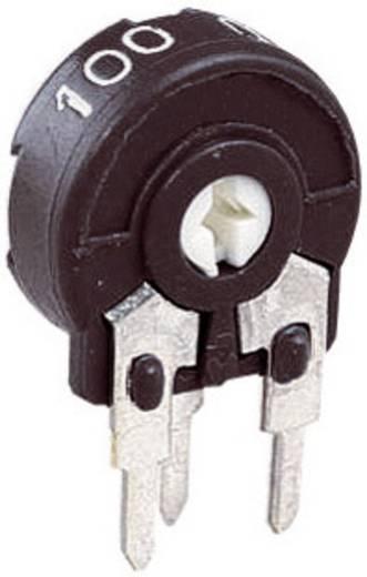 Miniatűr trimmer potméter, lineáris, álló, oldalt állítható, 0,15 W 1 kΩ 220° 240° Piher PT 10 LH 1K