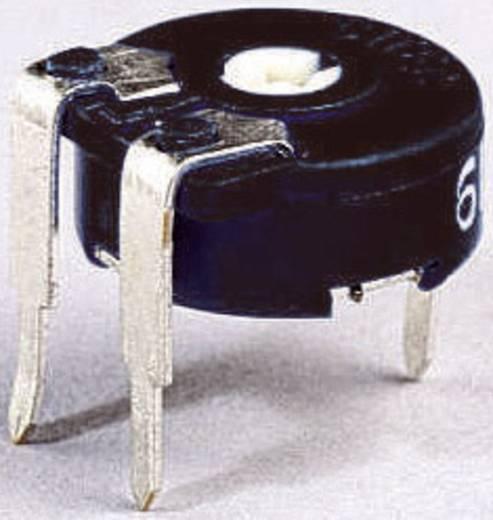 Miniatűr lineáris trimmer potméter, fekvő kivitelű, felső állítással 0.15 W 100 Ω 220 ° 240 ° Piher PT 10 LV 100R