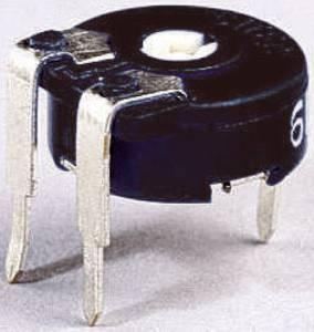 Miniatűr trimmer potméter, lineáris, fekvő, felül állítható, 0,15 W 5 MΩ 220° 240° Piher PT 10 LV 5M Piher