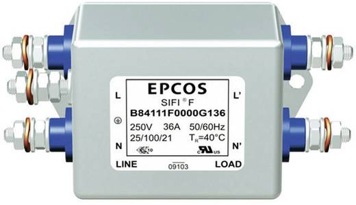 Zavarszűrő, 250 V/AC 10 A 0.82 mH (H x Sz x Ma) 77 x 63.5 x 38.1 mm Epcos B84111A0000B110 1 db