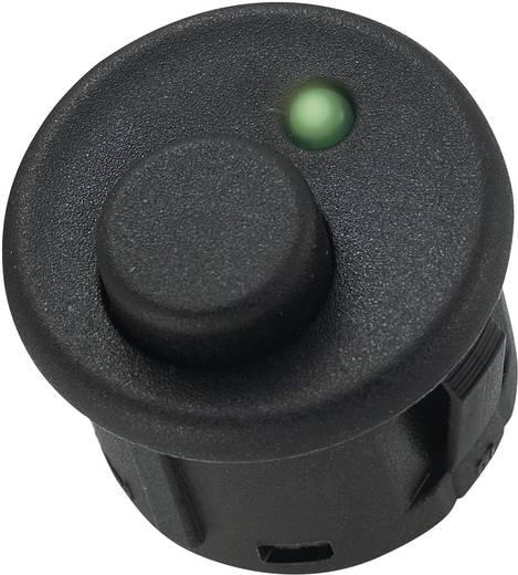 Nyomókapcsoló 6 A, 250 V/AC, 3 x ki/be, zöld, SCI R13-559B1GN