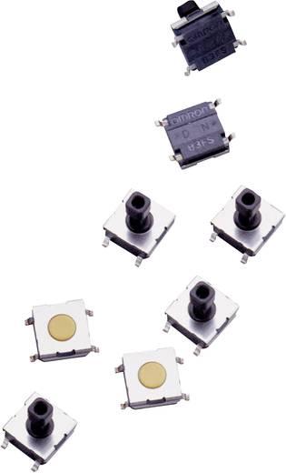 SMD rövid nyomógomb, lapos, 24 V/DC 50 mA, Omron B3FS1002