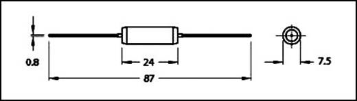 Induktivitás, axiális, 40 µH Fastron MESC-400M-01