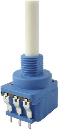 Kapcsolós potméter, lin. 6 mm-es tengely, 10 kΩ 0,4 W ± 20 % 10 A, Weltron WSFA202-A2-08-30F1-10K-20%-LIN