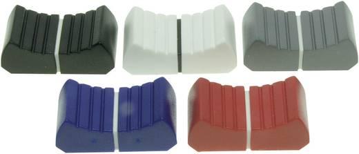 Tolópotméter gomb, jelölt, 18,5 x 1,2 mm, fekete, ALPS 76601 FK13X25