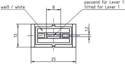 Tolópotméter gomb, jelölt, 8 x 1,2 mm, fekete, ALPS 76501 FK13X25
