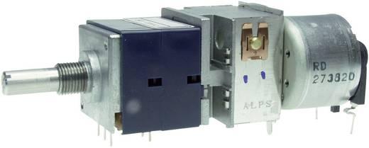 Motoros forgó potméter, sztereo, 6 mm-es tengely, log 10 kΩ max. 30 V/AC, ALPS RK27112MC 10KAX2